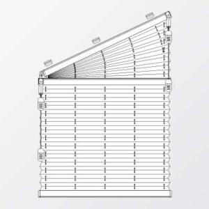 Plissee fürTrapezfenster f-slope-2