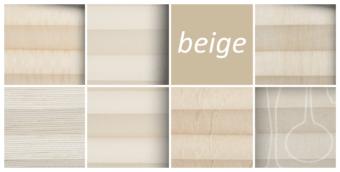 plissee beige