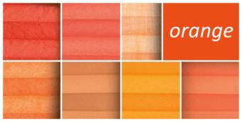 plissee orange