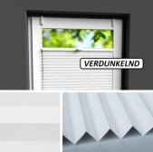 Fensterrollo weiß verdunkelnd