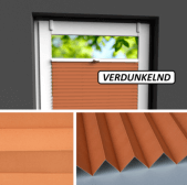 Fensterrollo orange verdunkelnd