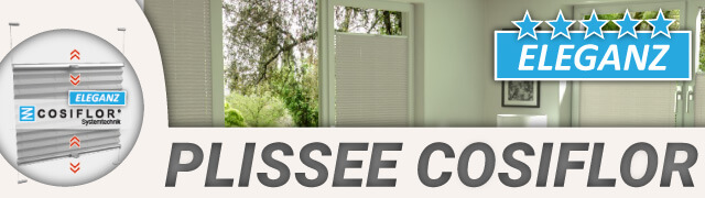 Plissee Cosiflor Banner