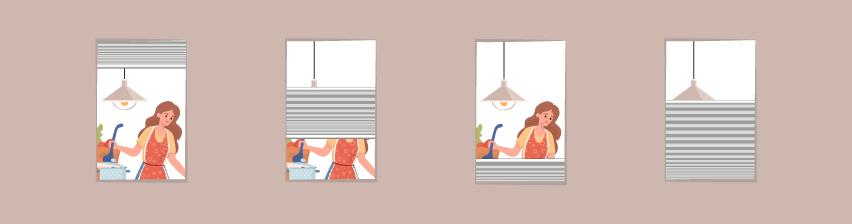 perfekter Sichtschutz durch Plissees